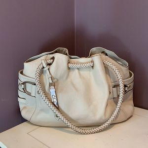 Cole Haan Ivory Denney Leather Bag